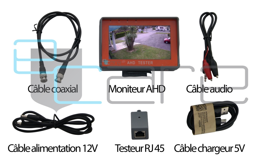 Moniteur de Chantier AHD1080p & AHD720p & Analoique
